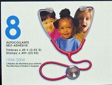 BOOKLET BK290, 2035,  MONTREAL CHILDREN'S HOSPITAL, PANE OF 8