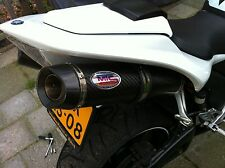 Yamaha YZF R1 4C8 07-08 Carbon Oval With Carbon Outlet ROAD LEGAL Exhaust Cans