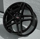 Gloss Black C6 Z06 Style Corvette Wheels Fits 2005-2013 C6 Base Corvette 1819