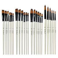 FP- DI- 6Pcs/Set Art Painting Brushes Acrylic Oil Watercolor Artist Paint Brush