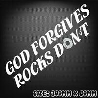 God Forgives Rocks Don't Funny car bumper 4wd Hilux Ranger Navara Toyota Ford