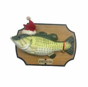 Vintage Big Mouth Billy Bass Christmas Holidays Singing Fish 1999 Gemmy