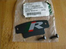 NEW GENUINE JAGUAR XJ R PERFORMANCE REAR BRAKE CALIPER PLATE R LOGO C2D3800 X351