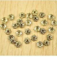 100pcs dark gold-tone flower spacer beads h2281