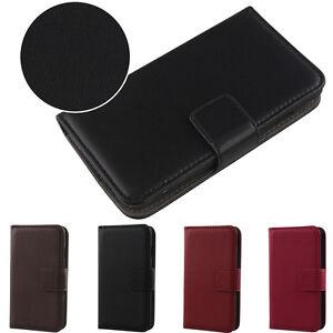 1x Veritable Flip Leather Cuir Etui Housse Case Protection Cover Pour téléphone