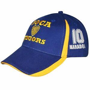 Official Boca Juniors CABJ Crest & Diego Maradona Baseball Cap -Fully Adjustable