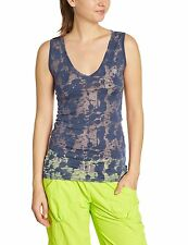 NWT ZUMBA Wear XL TOP T SHIRT INDIGO SPLATTER SLEEVELESS BURNOUT NEW