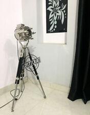 Maritime Lampen & Beleuchtung Vintage Theater Focus Spotlamp Standing Stativ LED
