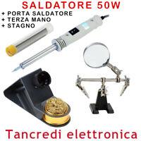 ZD-715 SALDATORE A STAGNO 50W STILO PORTA SALDATORE RIPARAZIONI TERZA MANO LENTE