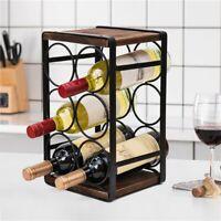 3 Tier Stackable Wine Rack, Countertop Cabinet Wine Holder Storage 6 Bottles US