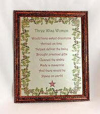 Three Wise Women Wall Hanging 8 x 10 frame - iridescent