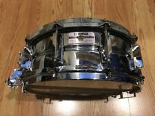 "YAMAHA Japan SD295 - 14"" x 5.5"" Seamless Steel Snare Drum - Vintage 1987 NK-4776"