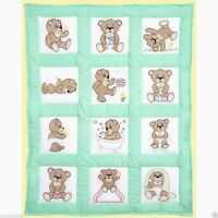 "Jack Dempsey Stamped Cross Stitch Pack 12 Quilt Blocks 9"" ~ TEDDY BEARS #300-892"
