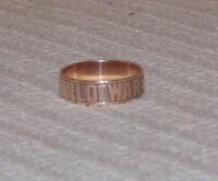 Size 10 Vintage 1945 World War 2 Bataan 8K Gold Ring w/engraving inside HISTORY