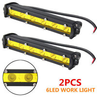 2pcs 18W LED Work Light Bar Driving Fog Lamp Spot 12V 24V Offroad Car SUV Boat