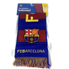 FC BARCELONA Soccer Football Double Sided SCARF Shawl FCB ~ Brand New