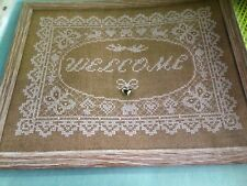 CROSS STITCH CHART WELCOME SAMPLER CHART DELICATE LACE STYLE DESIGN