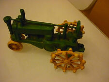 Vintage or Modern Repro Cast Iron Toy - Farmer Tractor - Christmas Green - C1