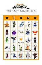Avatar the Last Airbender Birthday Party Bingo Game