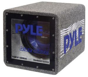 New Pyle PLQB10 10'' 500 Watt Bandpass Enclosure System Sub Car Audio