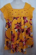 Size 18 Lane Bryant Orange Pink BOHO Peasant Shirt Blouse Top Floral Light NWT