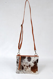 Real Cowhide Cross body Purse Handbag & Hand Clutch  Cow Hide Leather  SA-6282