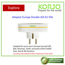 Korjo Travel Double Adaptor from Australia/NZ to Europe (Except UK)
