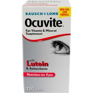Ocuvite Lutein Tablets 120 ct Bausch & Lomb Eye Vitamin and Mineral Supplement