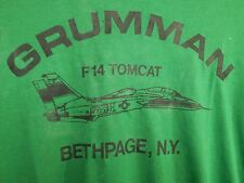 vintage t shirt grumman f 14 tomcat airplane usa aviation tee shirt 70s military