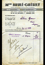"""SCEAUX (92) USINE de MATERIEL BUREAUTIQUE """"Maison BRULE & GRESELY"""" en 1953"""