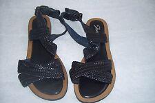 New Women's Skechers Grand Glam Bob and Weave Flat Sandal 38265 Size 5 Black 39A