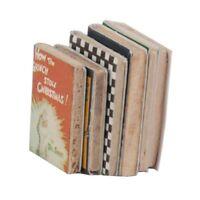 1/12 Libros en miniatura casa de munecas de madera 6pzs colorido G4R4