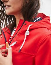 Joules Womens Coast Waterproof Coat - RED Size 6