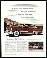 1953 DESOTO Firedome V-8 Classic Antique Car AD Brown w/ cream-colored roof