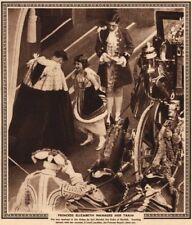 CORONATION 1937.Princess Elizabeth manages train(later Queen Elizabeth II) 1937