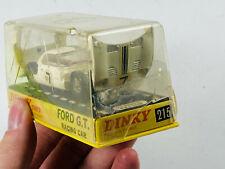VTG Dinky Toys die cast metal Ford GT Racing Car #215 w/ Case