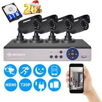 1080N 4CH CCTV HDMI DVR 1500TVL P2P 720P Security Camera System 1TB HDD IP66