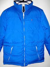 TOMMY HILFIGER Men's Reversible Puffer Ski Jacket Coat Blue Big Logo Medium 90s