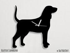 Bluetick Coonhound Dog Silhouette - Wall Clock