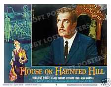 HOUSE ON HAUNTED HILL LOBBY SCENE CARD # 5 POSTER 1959 VINCENT PRICE