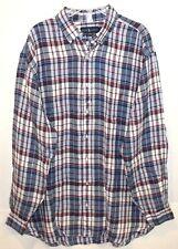 fc4a18f0d Polo Ralph Lauren Big and Tall Mens Red Blue Plaid 100 Linen Shirt 4xlt