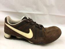 afea8ee1830495 Nike Shox Womens 8 M Brown Suede Leather Sneaker Shoe Running Walking  314854 261