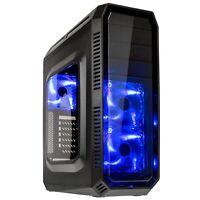 Kolink Refractor Midi ATX USB 3.0 Windowed Blue LED Gaming Tower PC Case Black