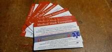 Mask Exemption  cards