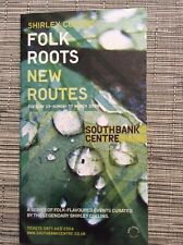 Shirley Collins Folk Roots New Routes Southbank Centre London 2008 Program