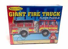 NEW 24 Pc Melissa & Doug Kids Jumbo Jigsaw Floor Puzzle Giant Fire Truck Engine