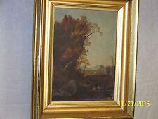 Hudson River School Original Oil On Canvas Landscape Frost & Adams Boston Frame
