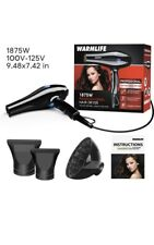 Hair Dryers Salon Level AC Motor Blow Dryer Powerful Back And Blue