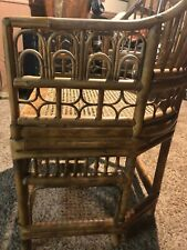 Vintage Chinoiserie Brighton Pavilion Style Bamboo & Cane Arm Chair