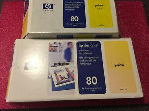 Original HP Druckkopf Designjet 1050C / CM Gelb / yellow  C4823A HP80 mit Zugabe